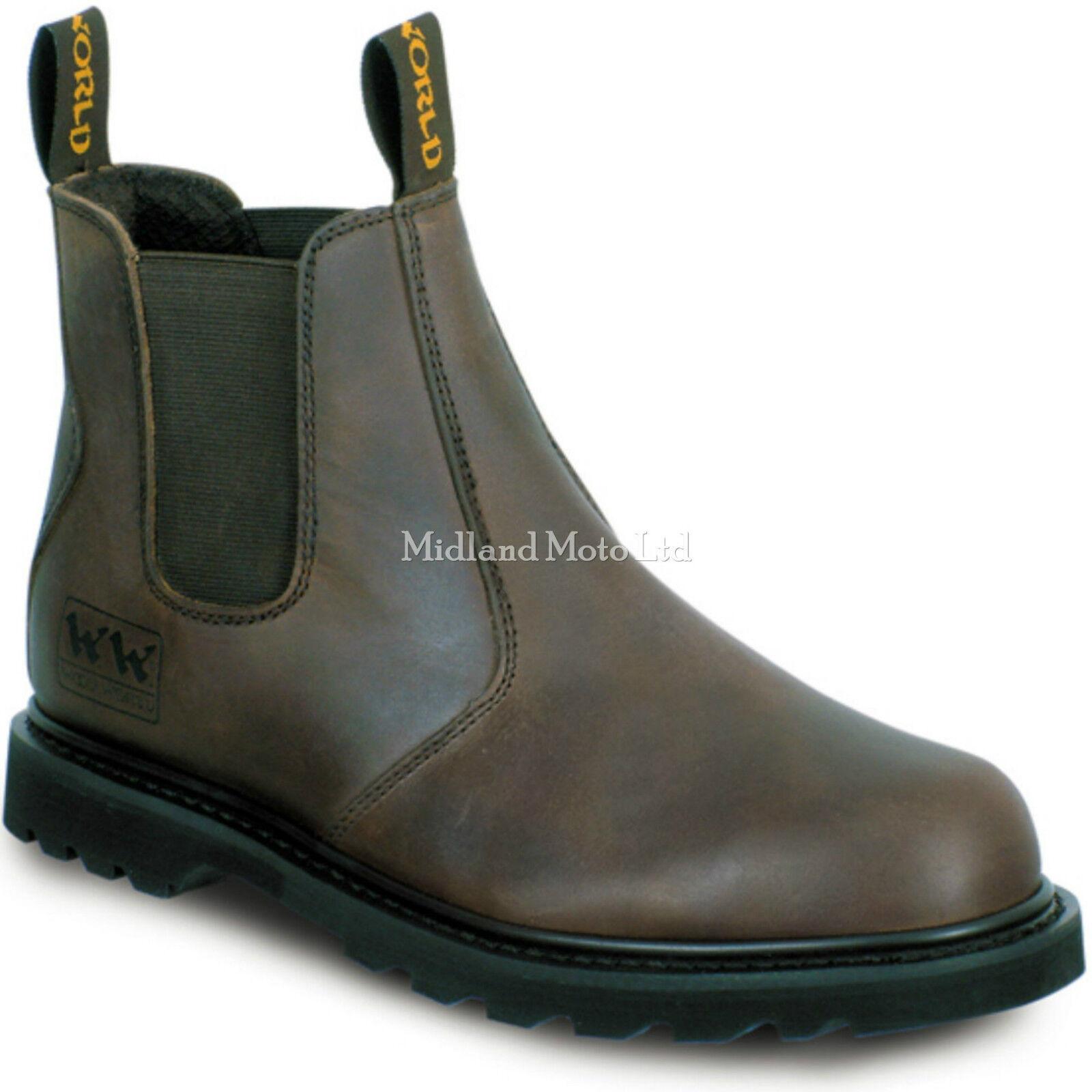 Goodyear Welted mundo Madera Marrón Distribuidor Tapa Puntera De Acero botas, tamaño 6 -13 WWD1-P.