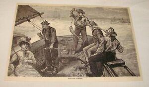 1886-Magazine-Gravure-Peche-pour-Poisson-Bleu