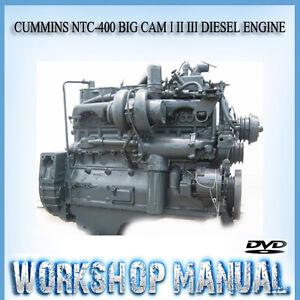 cummins ntc 400 big cam i ii iii diesel engine workshop service rh ebay com au Big Cam IV Cummins Engine Big Cam Cummins Tools