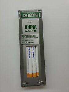 White DIXON China Marker Dozen
