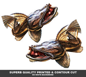 Flathead Decals X  Mirrored Pair Vinyl Boat Graphics Fishing Lure - Superb vinyl graphics