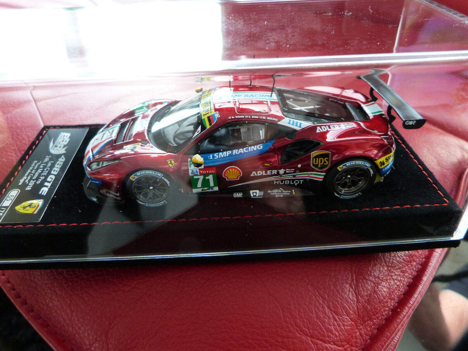 1 43 BBR C214 Ferrari 488 GTE AF Corse 24H Mans 2018 no 71 no 065 075