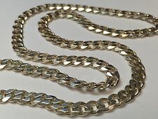 "24"" MENS HEAVY STERLING SILVER CUBAN LINK NECKLACE *BRAND NEW* 31.4 GRAMS"