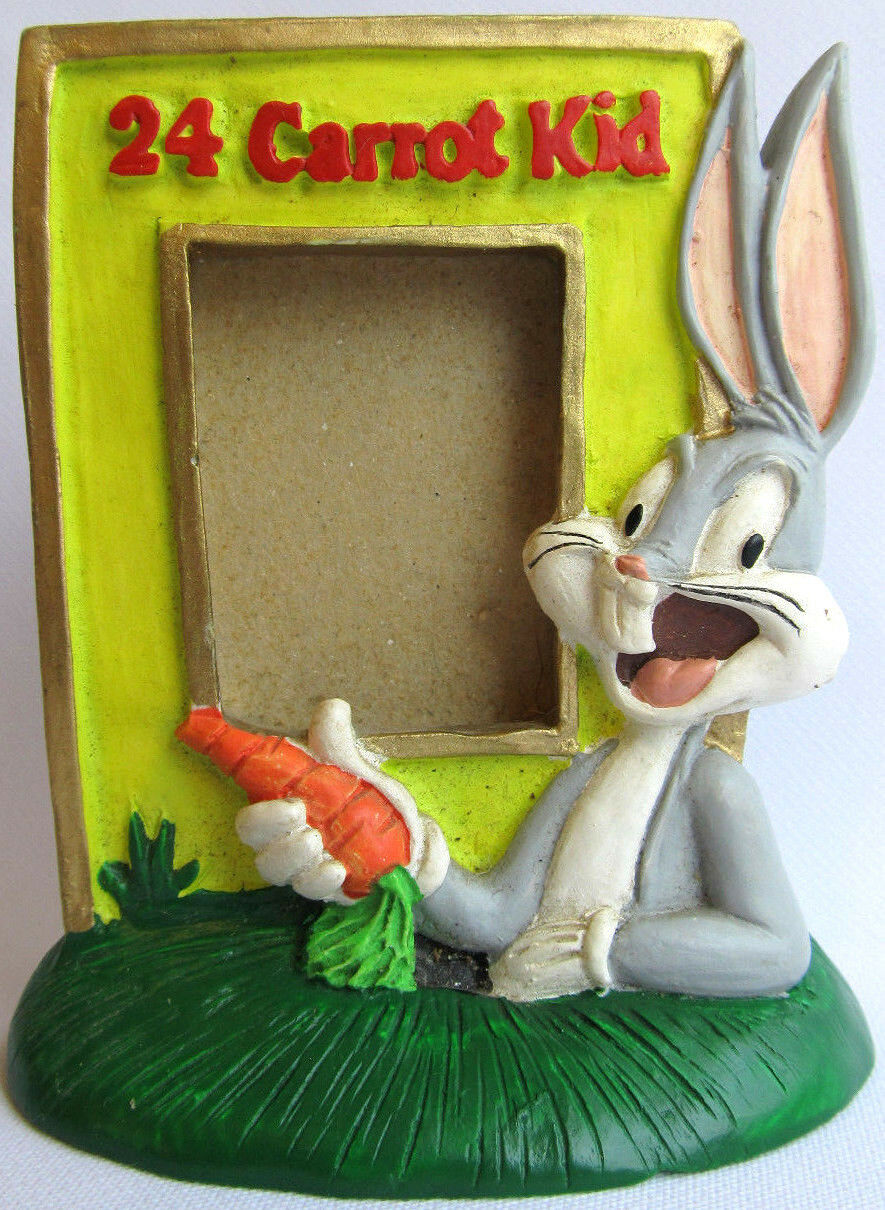 NEW 24 CARROT KID BUGS BUNNY LOONEY TUNES PHOTO FRAME