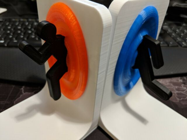 Portal Bookends / Video Game Storage - The Cake May Be A Lie but These Are  Real!