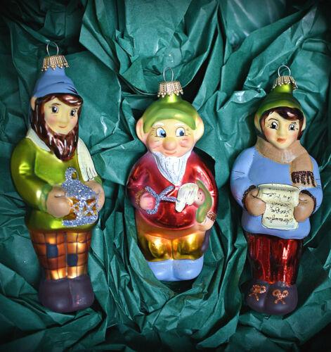 ❀ Schneewittchen u.d sieben Zwerge Lauscha MärchenSet Glas Christbaumschmuck 01