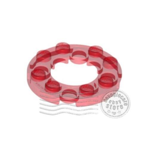 2x LEGO 11833 Piastra con foro 2x2 4x4 Rosso trasparente6024294