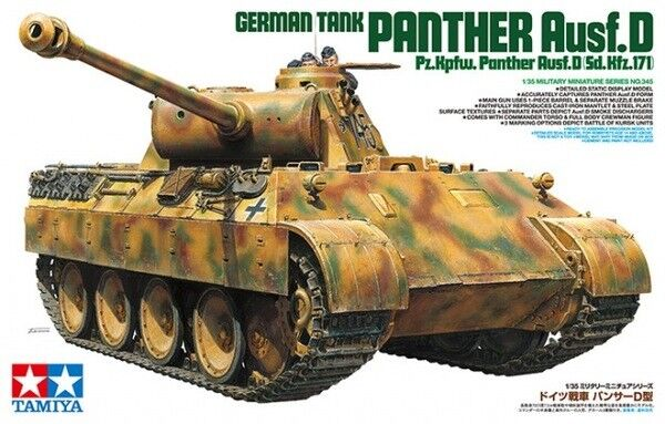 Tamiya 1 35 scale WW2 German Panther D Ausf D tank model kit