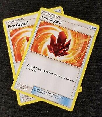 MINT 4X Pokemon FIRE CRYSTAL 173//214 Unbroken Bonds
