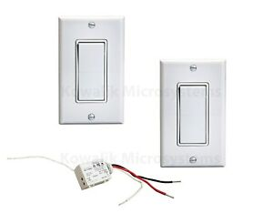 Details About Three Way Wireless Light Switch Kit 1 Relay 2 Switches No Batteries Needed