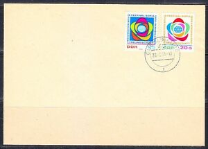 Germany DDR 1968 FDC cover Sc 1017,B148 Mi 1377-1378 Youth Festival for Peace