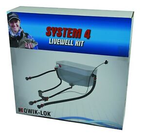 Flow-Rite-Fishing-Livewell-Bait-Tank-System-Kit-With-Rule-Pump