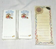 Magnetic Three Cathy Notepads Amp Sunflower Shopping List New