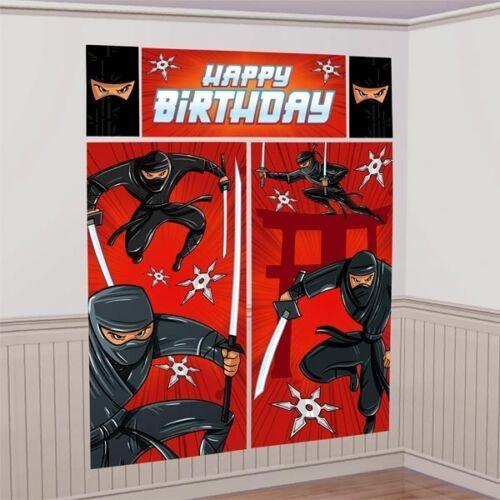 über 1,8m Wanddekoration Ninja XL Foto-Hintergrund Folie