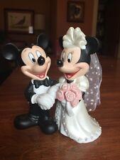 Disney Mickey & Minnie Mouse Bride Groom Cake Topper
