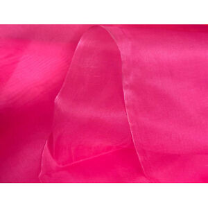 """100/% SILK CREPE DE CHINE TYPE FABRIC ~PRICE IS FOR 1 YARD X 44"""" ~ DEEP ROSE PINK"""