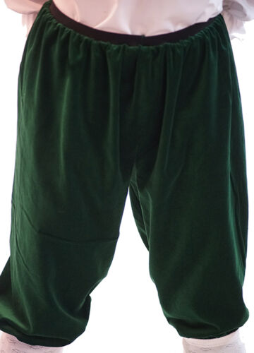 Victorian-Panto-Tudor-Baron-Fancy Dress CROPPED VELVET TROUSERS All Ages//Sizes