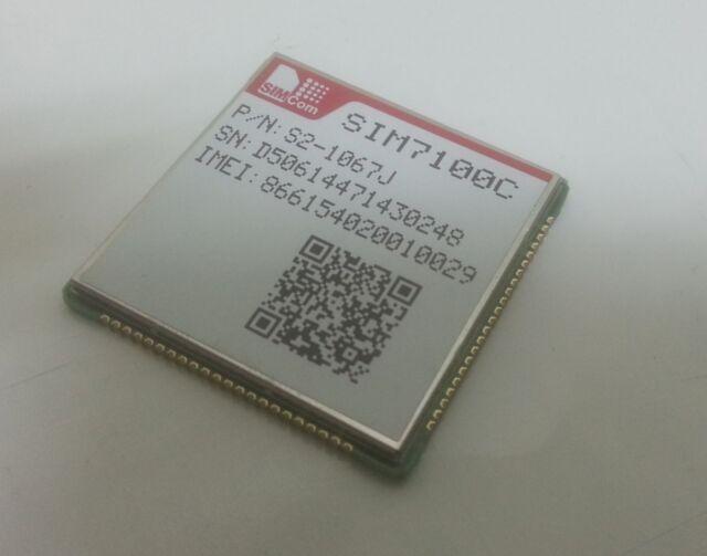 SIM7100C SIMCOM 4G LTE TDD/FDD/TD-SCDMA/WCDMA/GSM/GPRS/GPS/GNSS USB UART module