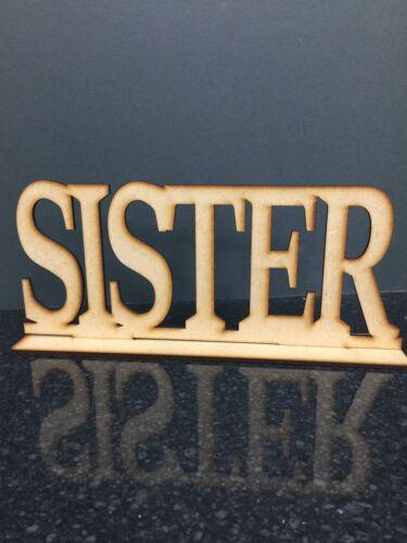 3mm mdf sœur y compris stand