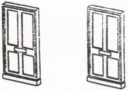 12 DORNAPLAS A0 1:148 N SCALE  Doors with Frames