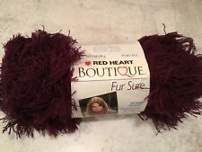Red Heart Boutique Fur Yarn Cherry 073650036620 NEW Full Skein