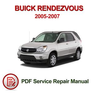 buick rendezvous 2005 2007 service repair manual pdf ebay rh ebay com 2007 Buick SUV 2007 Rendezvous CXL