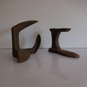 2-Herramientas-Yunques-Zapatero-Forma-Zapato-Hierro-Fundido-Diseno-Siglo-Xx-Pn