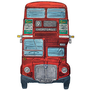 Vierge-Carte-034-Routemaster-London-Bus-034-Grand-Carre-Taille-15-9cm-X-8845-Eveh
