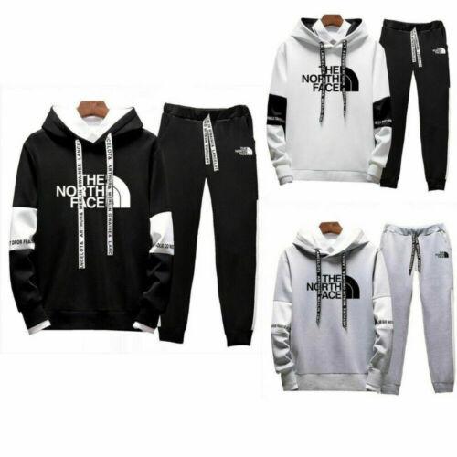 Mens Tracksuit Casual Jogging Sports Suit Sportswear Hoodie /& Pants Training Set