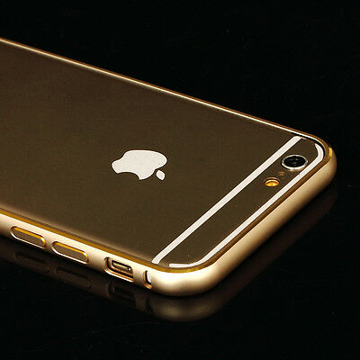 For iPhone 6 Plus 5.5'' Gold Aluminum Ultra-thin Metal Case Only Bumper Cover
