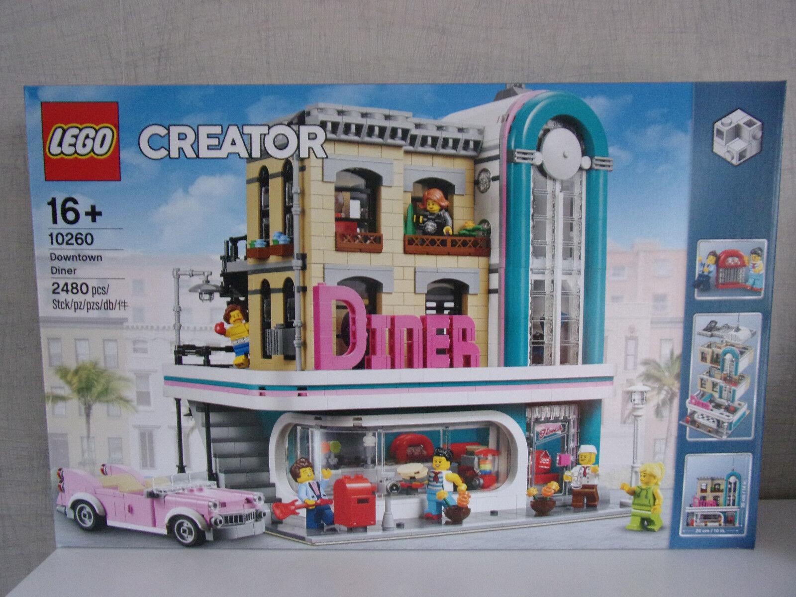 promozioni LEGO CREATOR 10260 10260 10260 DOWNTOWN Diner (americana Diner) - NUOVO & OVP  esclusivo