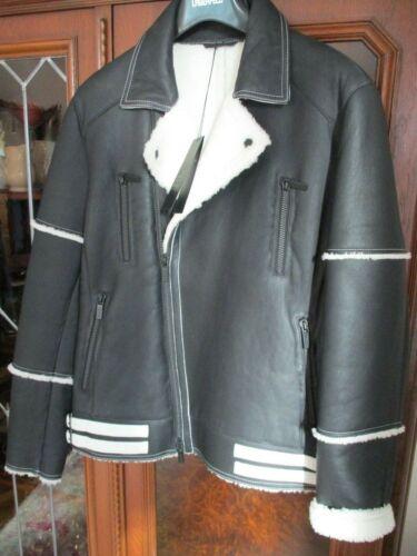 di Lagerfeld agnello in biker di M vera pelliccia Karl pelle in coltivata unica pelle Giacca xPqdp8Xw8