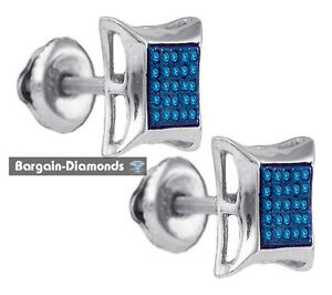 Image Is Loading Blue Diamond Kite Star Stud Back Earrings 7x7
