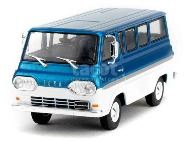 1:43 White Box Ford Econoline 1964 bluemetallic//white
