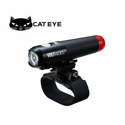 Cateye VOLT400 Headlight Cycling Helmet Front /& Rear Light USB Rechargeable