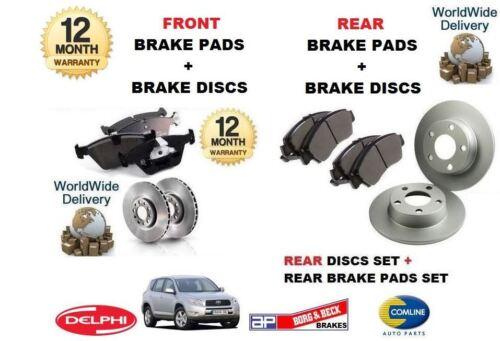 REAR BRAKE DISCS SET DISC PADS FOR TOYOTA RAV4 RAV 4 2005-2013 NEW FRONT