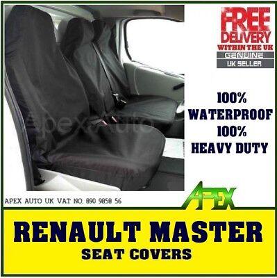 RENAULT MASTER DCI 10-ON 2+1 WATERPROOF VAN SEAT COVERS GREY HEAVY DUTY