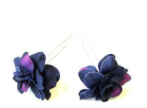 Haarschmuck 2 X Himbeer Rosa Rosenknospe Blumen-haarnadeln Vintage Brautjungfer Klemme Herausragende Eigenschaften