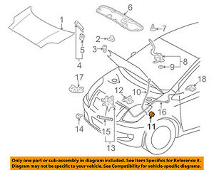 image is loading toyota-oem-07-11-yaris-hood-support-rod-