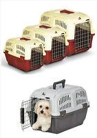 PET CARRIER PUPPY, DOG,CAT,KITTEN & RABBIT TRAVEL TRANSPORT CAGES