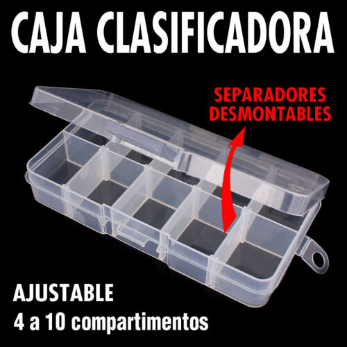 Caja clasificador 4 a 10 compartimentos Nueva !! Ajustable Modulable