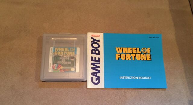 Wheel Of Fortune Nintendo Game Boy W/ Protective Case & Booklet Tested & Working