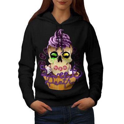 Angemessen Wellcoda Sweet Death Cupcake Womens Hoodie, Candy Casual Hooded Sweatshirt Dinge Bequem Machen FüR Kunden