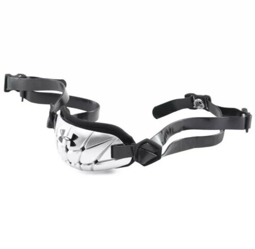 UNDER ARMOUR YOUTH BOYS GAMEDAY ARMOUR PRO FOOTBALL CHIN STRAP SILVER OSFA