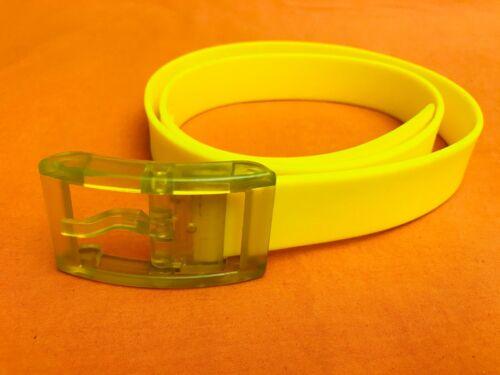 Yellow Rubber Belt Size 38