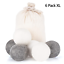 Niceclub-Tumble-Wool-Dryer-Balls-100-Natural-New-Zealand-Wool-Fabric-Softener-a thumbnail 1