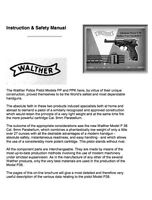 Walther P-38 P-1 Pistol Manual Reproduction