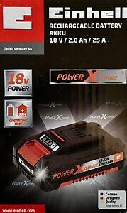 Einhell-Power-X-Change-Akku-18V-2-0Ah-Li-Ionen-Power-Batterie-Aufladbar-Power