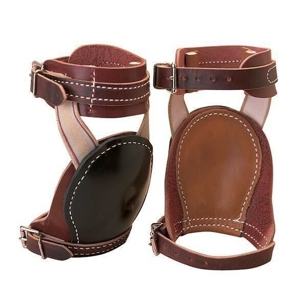 Weaver Leather Skid stivali with Deep Foam Lined Rubber Cups Horse Dimensione Marronee