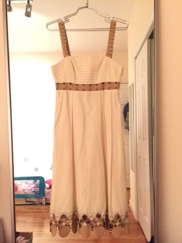 Catherine Malandrino Babydoll Dress Embroidery Tri